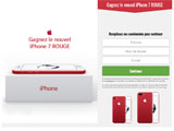 Gagnez l'iPhone 7 ROUGE
