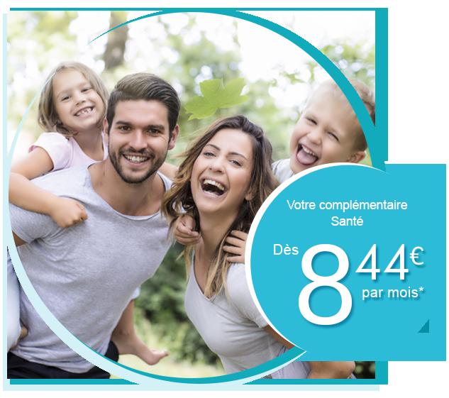 Le comparateur mutuelle en France. Dès 8,44? par mois*